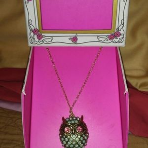 Jewelry - Betsey Johnson Necklace-Owl New in box